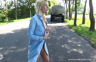 Blonde Babe gets assfucked in Public!!