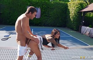 Exotic tennis tot with natural tits gets screwed peripheral exhausted