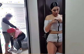 Martina recording a t1k tok when her bf fucks her sister