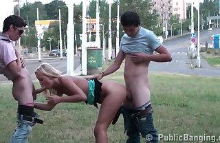 Public TEEN orgy, street GANG BANG Part 3