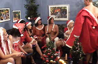 Big sultry Christmas dildo party