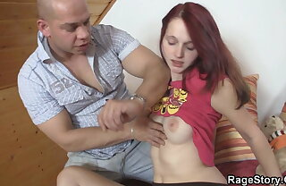 Young gf enjoys brutal deepthroat with an increment of extreme anal