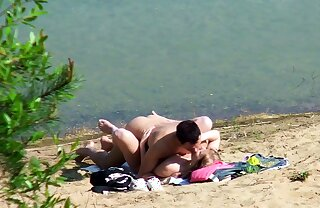 Real Teen Couple on German Beach Voyeur Fuck by Stranger