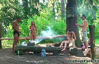 Bikini teen fucked in the forest