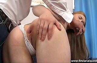 FirstAnalQuest.com - CLOSE UP ANAL SHOWS HER GAPING TEEN ASSHOLE Counterfoil Intercourse