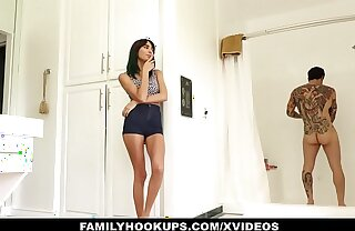 FamilyHookups - Stepsister Loves Close-packed exposed to Tattooed Brothers Cock