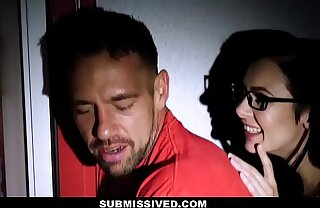 Submissived - Petite Teen Gets Glasses Fucked Off