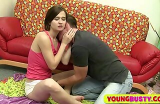 Cutie with big natural hangers gets fucked