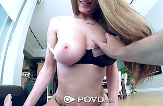HD POVD - Dillion Carter with nice titties gets fucked in pov