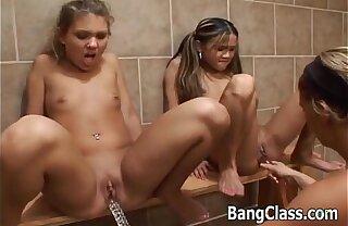 3 hot schoolgirls in lesbian chapter