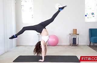 FIT18 - Aliya Brynn - 50kg - Colouring Versatile and Horny Petite Dancer