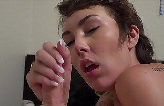 Petite Emily Blanc Likes Daddy's Dick & Cum