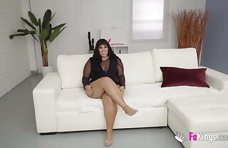 BBW Vicky is starved for sex! She devours a heavy black load of shit